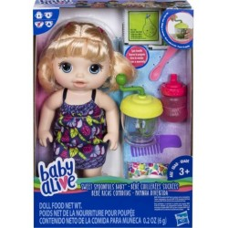 Baby Alive Sweet Spoonfuls Baby Doll Girl-Blonde Hair