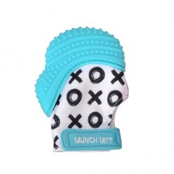 Munch Mitt- Aqua Blue X&O