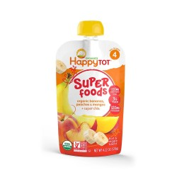 Happy Tot Organic Bananas, Peaches & Mangos + Super Chia
