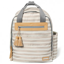 Skip Hop Riverside Ultra Light Backpack, Oyster Stripe
