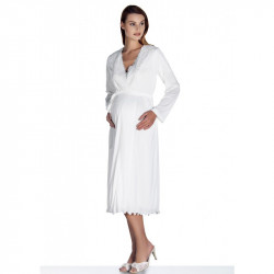 Maternity & Nursing Sleepwear - White