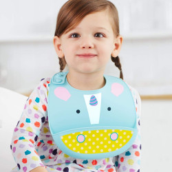 SkipHop Zoo Fold and Go Silicone Bib - Unicorn