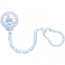 Nuk Soother Chain With Clip Blue