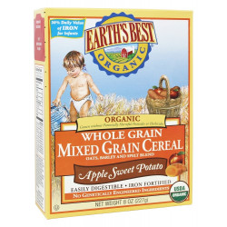 Earth's Best Organic Whole Grain Mixed Grain Cereal Apple Sweet