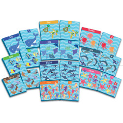 Ocean Counting Bath Cards