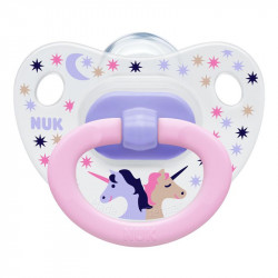 NUK Soother Happy Days Stage 3 Silicon (Pink Unicorn) +18 months