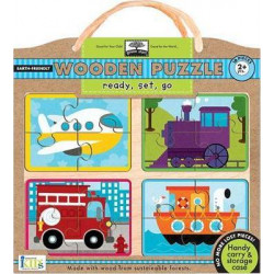 Wodden Puzzles -Ready, Set, Go