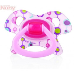 Nuby Pacifier Orthodontic GEO (6-18 Months) (Blue - Pink)