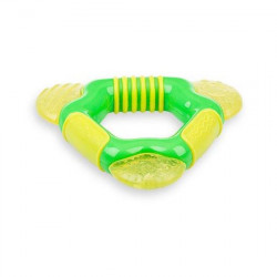 Nuby Coolbite Triangle Teether (Yellow & Green)