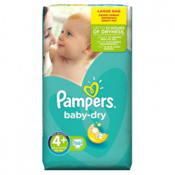 PAMPERS Baby Dry Size 4+ (9 to 20)kg - 56 Layers