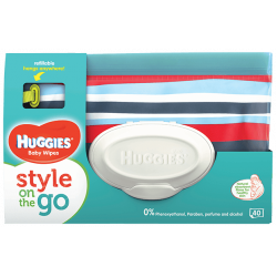 Huggies Wipes Gaga Pouch 40 - Stripes