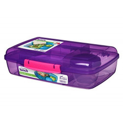 Sistema Bento Box - 5x Divided XL Lunchbox Assorted Colours