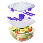 Sistema Food Container Chill It Lunch Box with Ice Block 1.63L Assorted Colours