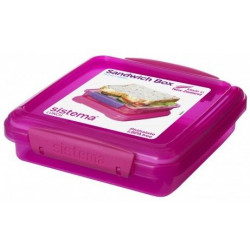 Sistema Lunch Sandwich Box, 450 ml, Pink