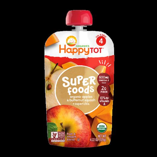 Happy Tot Organic Apples & Butternut Squash + Super Chia