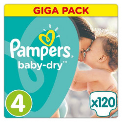 Pampers Baby-Dry Size 4, 7-18 KG, 120 Count (MADE IN BRITAIN)
