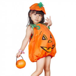Halloween Children Kids Soft Comfortable Pumpkin Costume for (3-6 years old)