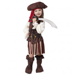 Children's Halloween Party Outfit Dress Costumes Girls Pirate (5-8 years old)