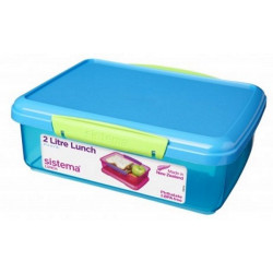 Sistema 2L lunch box storage container BPA-free