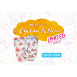 PureBorn - Organic Nappy New Born, Cyrine Limited Edition Print, Up To 4.5 Kg, 34 Nappies
