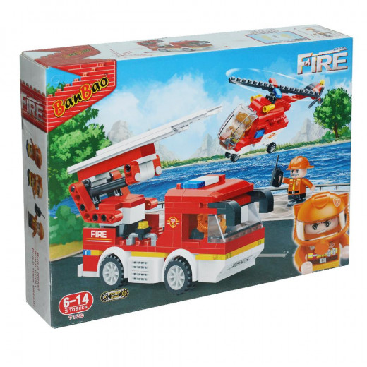 Banbao Fire Truck And Helicopter