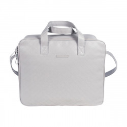 Pasito a Pasito Normandie Grey Faux Leather Hospital Bag