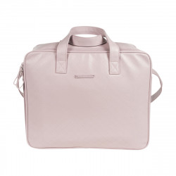 Pasito a Pasito Normandie Pink Faux Leather Hospital Bag