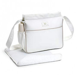 Small Changing Bag + Changing Mat Leatherette Beige