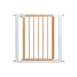 Safety 1st Easy Close Wood and Metal Gate, White/Natural