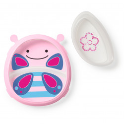 Skip Hop Zoo Smart Serve Plate & Bowl Butterfly