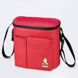 Insular Stroller Organizer, Baby Lunch bag, Hanging Buckle Attaches Directly to the Stroller - Red