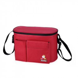 Insular Red Lunch Box