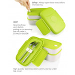 Look Back Lunch Box for Adults, Kids, 2 Layers, Leak Proof