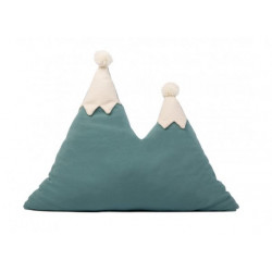 Nobodinoz Snowy Mountain Cushion (Magic Green)