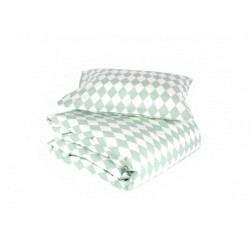 Nobodinoz Toronto Duvet Single (Green Diamonds)