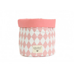 Nobodinoz Mambo Basket (Pink Diamonds) Medium Size