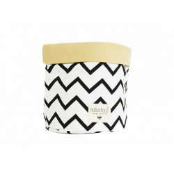 Nobodinoz Mambo Basket (Zig Zag Black) Medium Size