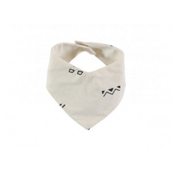 Nobodinoz Lucky Bandana Bib (Black Secrets/ Natural)
