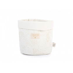 Nobodinoz Panda Basket (Gold Bubble/ White) Small Size