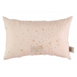 Nobodinoz Laurel Cushion (Gold Stella/ Dream Pink)