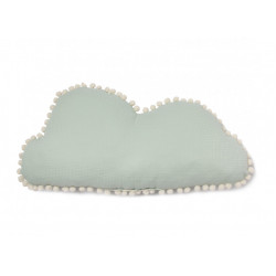 Nobodinoz Marshmallow Cloud Cushion (Aqua)