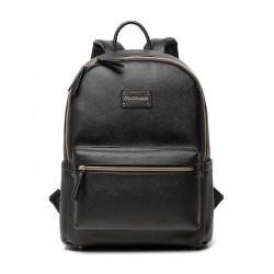 Colorland Fashion Travel Bag Organizer Backpack Diaper Bag Mummy Bag PU Leather - Black