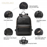 Colorland Fashion Travel Bag Organizer Backpack Diaper Bag Mummy Bag PU Leather - Black