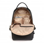 Colorland Mirabelle Faux Leather Diaper Backpack- Black