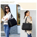 ColorLand Black Classic Baby Diaper Tote Maternity Bag
