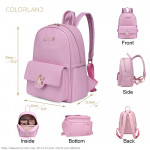 Colorland Diaper Bag Fashion Multi functional Double Shoulder Unicorns Embroidered Mommy Bag - Pink