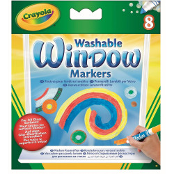 Crayola 8 Washable Window Markers