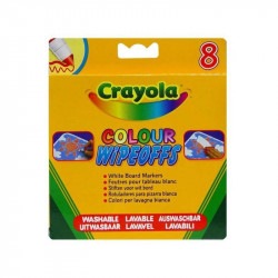 Crayola 8 Rainbow Color Wipeoff Pens