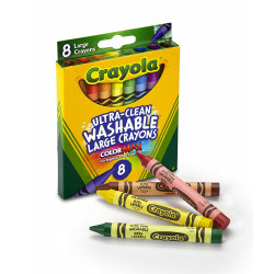Crayola Washable Large Crayons 8 Colors