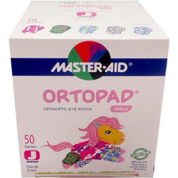 Master Aid Ortopad Girls Eye Patches - Junior Size (50 Per Box)